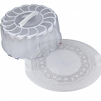 Doily Effect Cake Carrier - Round Holds 28cm Cakes alt image 2