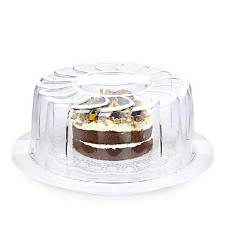 Doily Effect Cake Carrier - Round Holds 28cm Cakes alt image 4