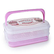 Two-Tier Traybake and Cupcake Carrier - Holds 28 Cupcakes