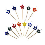 Star-Shaped Happy Birthday Candles
