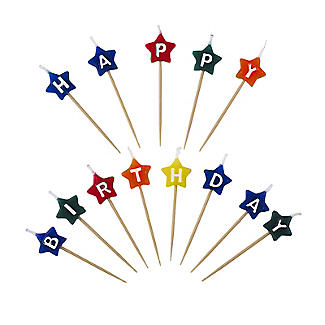 Star-Shaped Happy Birthday Candles alt image 1