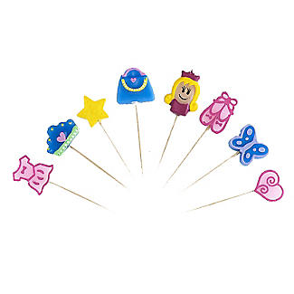 Princess-themed Cake Candles 8 Pack
