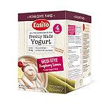 EasiYo Indulgence 4er-Pack Joghurtmischung Himbeer-Zitrone nach griechischer Art