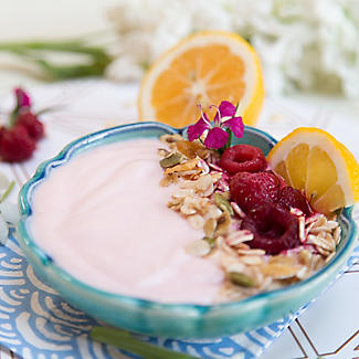 EasiYo Indulgence Greek Style Raspberry Lemon Yogurt Mix x 4 alt image 2