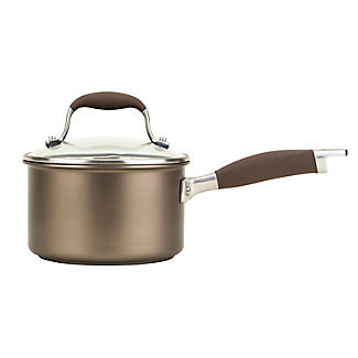 Anolon Advanced 16cm Glass-Lidded Saucepan Umber