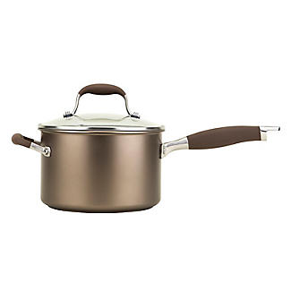 Anolon Advanced 20cm Glass-Lidded Saucepan Umber