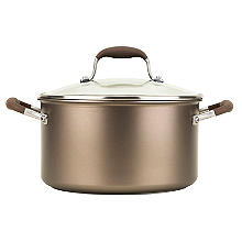 Anolon Advanced 24cm Glass-Lidded Stockpot Umber