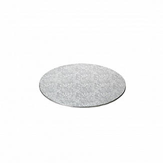 Extra Strong 20cm Silver Cake Board - Round