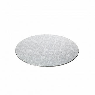 Extra Strong 25.5cm Silver Cake Board - Round