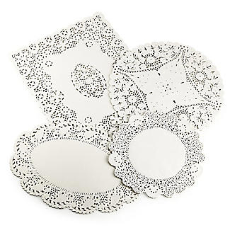 Lakeland 80 Assorted Paper Doilies - 4 designs