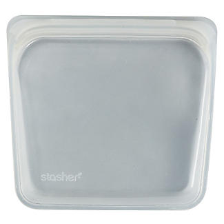 Stasher Reusable Food Storage Bag Clear - Sandwich Bag Size 450ml alt image 3