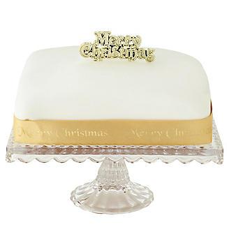 Gold Merry Christmas Cake Topper and Cake Ribbon Set alt image 2