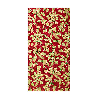 Holly Design Yule Log Cake Board - Red and Gold 12cm x 25cm alt image 2