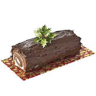Holly Design Yule Log Cake Board - Red and Gold 12cm x 25cm alt image 4