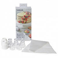 Lakeland Russian Nozzle Icing Set - 8 Nozzles and 3 Piping Bags