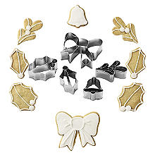 Edible Christmas Wreath Cookie Cutter Set