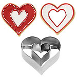 Heart with Heart inside Cookie Cutter