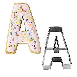 Letter A Alphabet Stainless Steel Cookie Cutter alt image 1