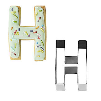 Letter H Alphabet Stainless Steel Cookie Cutter alt image 1
