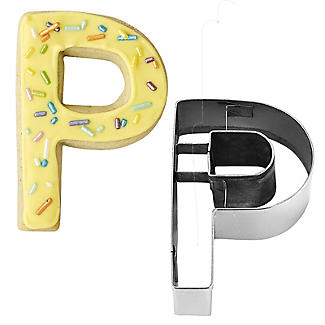 Letter P Alphabet Stainless Steel Cookie Cutter