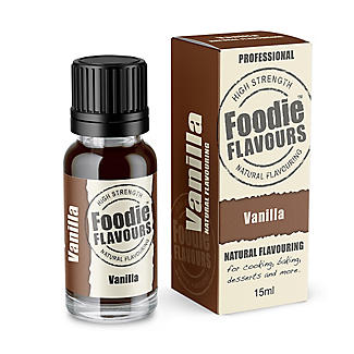 Foodie Flavours Vanilla All-Natural Flavouring 15ml alt image 1
