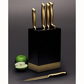 MasterClass 5-Piece Brass-Coloured Stainless Steel Knife Set and Block alt image 8