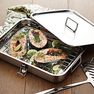 Kitchen Craft Home Made Stainless Steel Smoking Oven with Lid alt image 2