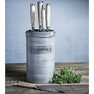 Industrial Kitchen 5-Piece Stainless Steel Knife Set and Knife Block alt image 2