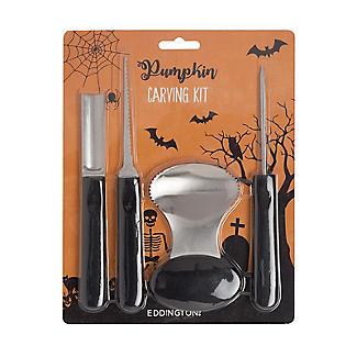 4pc Halloween Pumpkin Carving Kit