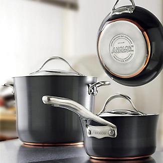 Anolon Nouvelle Copper 3-Piece Lidded Saucepan Set alt image 10
