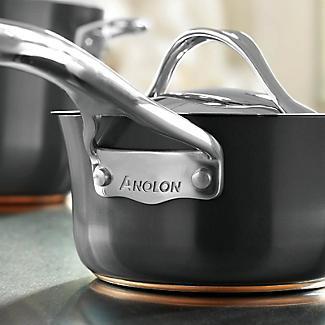 Anolon Nouvelle Copper 3-Piece Lidded Saucepan Set alt image 8