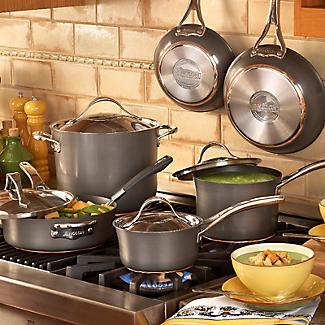 Anolon Nouvelle Copper 3-Piece Lidded Saucepan Set alt image 9