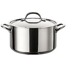 Circulon Ultimum Stainless Steel 24cm Lidded Stockpot 5.7L