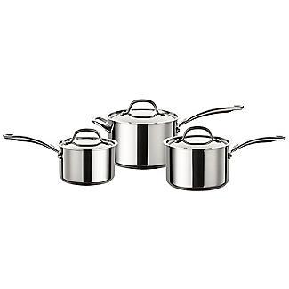 Circulon Ultimum Stainless Steel 3-Piece Pan Set