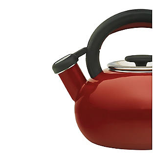 Prestige 1.4L Whistling Stove Top Kettle Red  alt image 2