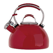 Prestige 2L Whistling Stove Top Kettle Red