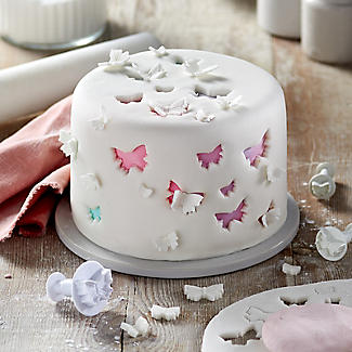 3 Mini Fondant Icing Cutters Butterfly Shaped alt image 2