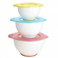 Rosanna Pansino by Wilton Nesting Lidded 3 Mixing Bowl Set