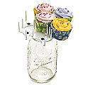Mason Jar Cupcake Bouquet Holder