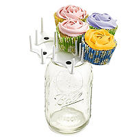 Mason Jar Cupcake Bouquet Holder