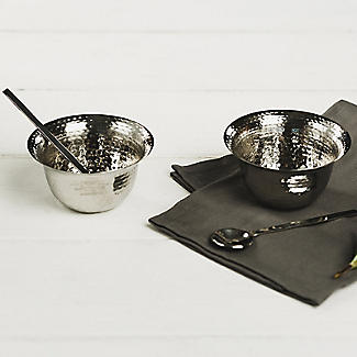 Just Slate Hammered Stainless Steel Condiment Pots Set alt image 5