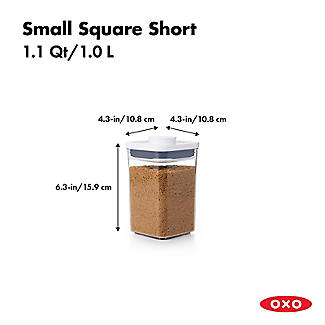 OXO Good Grips POP Square Food Storage Container 1L alt image 3