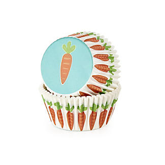 Carrot Greaseproof Cupcake Cases 40 Pack