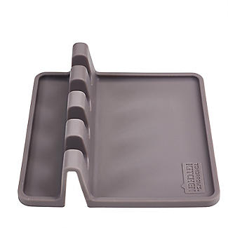 Tomorrow's Kitchen Silicone Utensil Rest Grey alt image 4