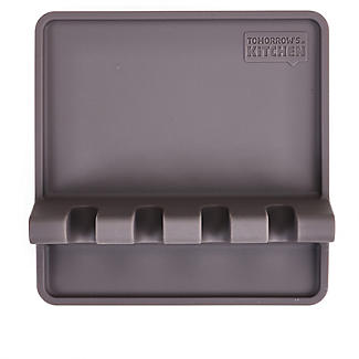 Tomorrow's Kitchen Silicone Utensil Rest Grey alt image 5