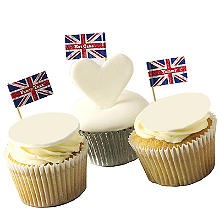 Celebrate Britain Union Jack Food Flags Pack of 20