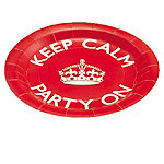 Celebrate Britain Keep Calm Paper Plates Pack of 8