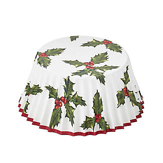 Talking Tables Botanical Holly Christmas Cupcake Cases 30 Pack alt image 2