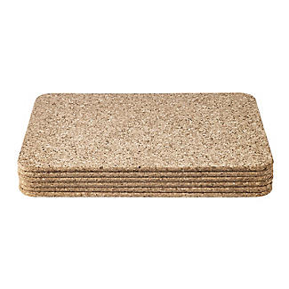 T&G Woodware Rectangular Cork Table Mats Set of 6 alt image 2