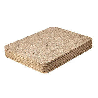 T&G Woodware Rectangular Cork Table Mats Set of 6 alt image 3